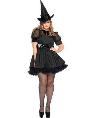 658ae1f4a2475 Black Witch Plus Size Sexy Halloween Costume Main View Bewitching Black  Magic Witch Women's ...