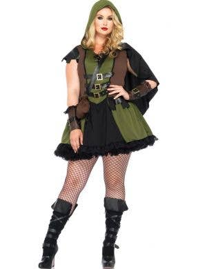 Plus Size Robin Hood Sexy Women's Costume Main View