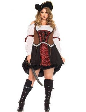 Plus Size Sexy Pirate Women's Costume Main