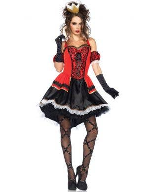 Sexy Queen Of Hearts Deluxe Women's Costume Main