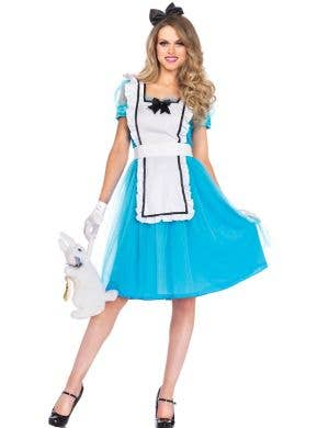 Women's Classic Alice In Wonderland Costume Main
