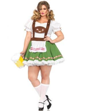 Plus Size Green German Beer Girl Costume Main