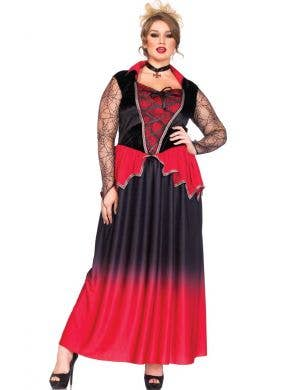 Plus Size Vampire Women's Halloween Costume Front View