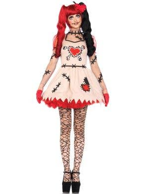 Women's Sexy Voodoo Doll Halloween Costume Front View