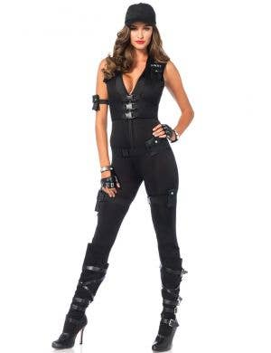 Women's Sexy SWAT Commander Costume Front View