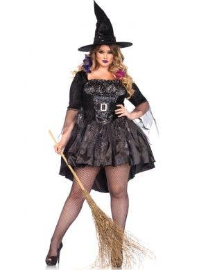 plus size black witch womens halloween costume