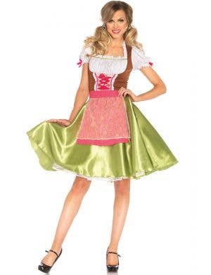 Green German Beer Girl Women's Costume Main View