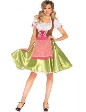 Green German Beer Girl Women's Costume Main View