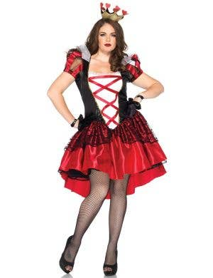 Plus Size Queen Of Hearts Deluxe Women's Costume Main