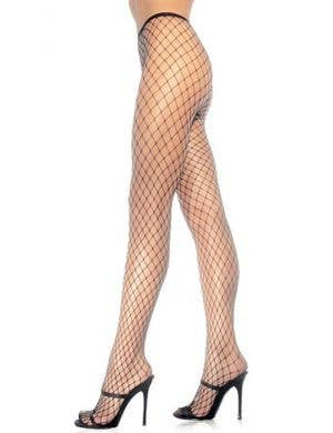 Diamond Net Black Pantyhose