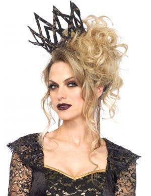 Black Lace Evil Queen Deluxe Women's Costume Crown