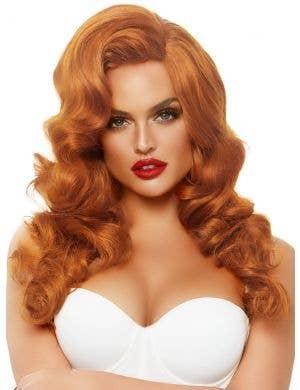Bombshell Women's Jessica Rabbit Ginger Auburn Costume Wig