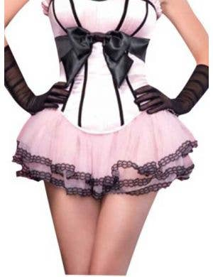 Chiffon Pink Petticoat with Lace Trim
