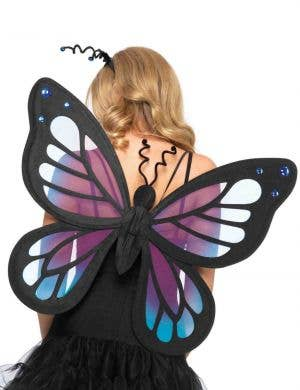 Purple and Black Deluxe Fairy Costume Wings