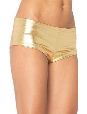 Gold Women's Booty Shorts Costume Accessory