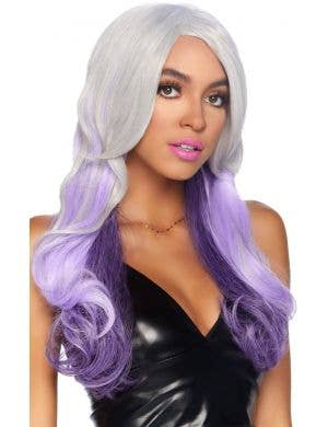 Allure Purple and Grey Ombre Long Wavy Mermaid Costume Wig