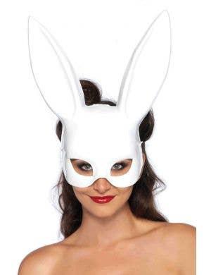 White Bunny Adults Costume Mask Main Image