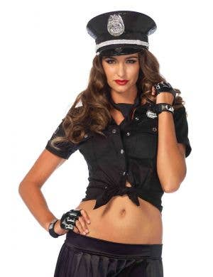 Policewoman Sexy Costume Shirt with Badge