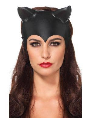 Molded Black Plastic Catwoman Costume Mask