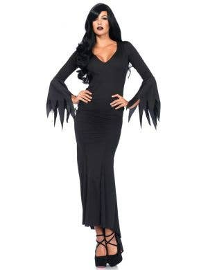 Morticia Addams Women's Gothic Halloween Costume Main Image