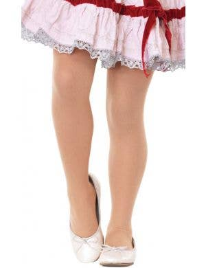 Opaque Girl's Nude Stockings Costume Accessory