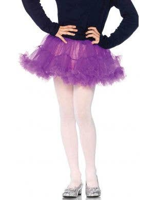 Enchanted Girl's Purple Petticoat Costume Accessory