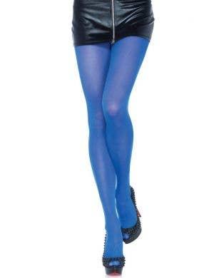 Leg Avenue Blue Opaque Women's Pantyhose Stockings