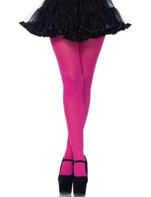 Leg Avenue Fuchsia Pink Opaque Women's Pantyhose Stockings