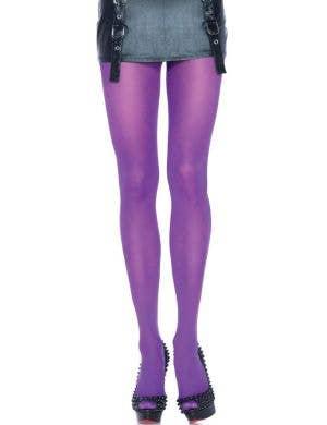Leg Avenue Purple Opaque Women's Pantyhose Stockings