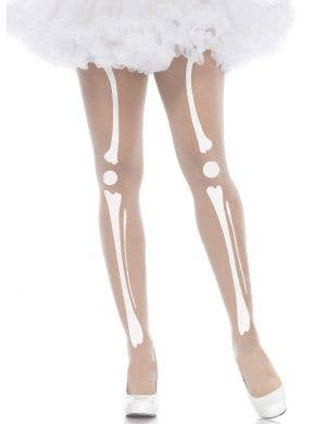 Women's Skeleton Bones Halloween Sheer Stockings