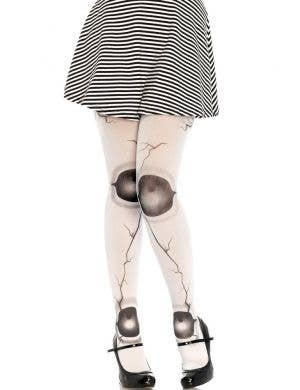 Broken Doll Women's White Opaque Stockings