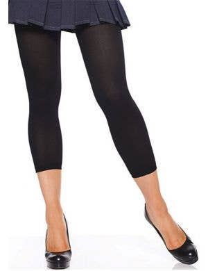 Black Opaque Footless Costume Tights
