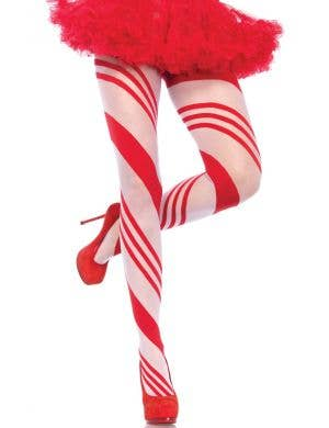 Red and White Candy Cane Women's Christmas Stockings