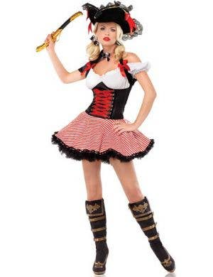 Sexy Pirate Wench Women's Fancy Dress Costume Main
