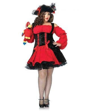 Sexy Plus Size Pirate Women's Costume Main Image