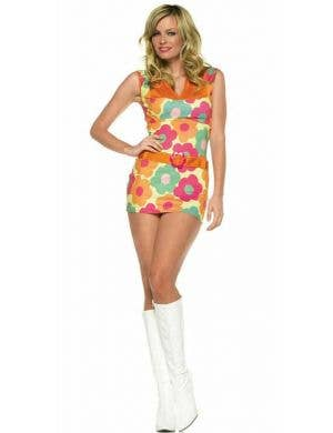 Daisy Print Women's Sexy Retro Costume Dress Main