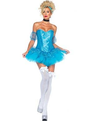 Cinderella Women's Blue Sequin Fairytale Costume