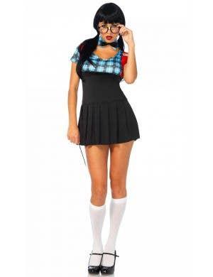 Sexy Nerd Women's Schoolgirl Costume Front View