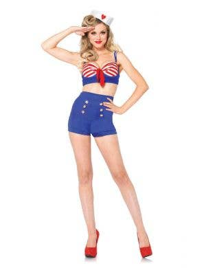 Sexy 1940's Pin Up Sailor Costume Front View