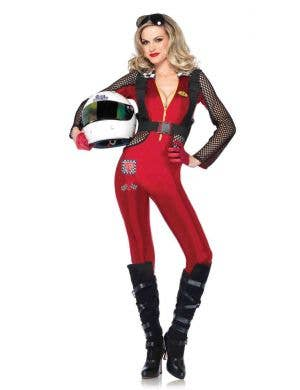 Sexy Women's Race Car Driver Costume Front View