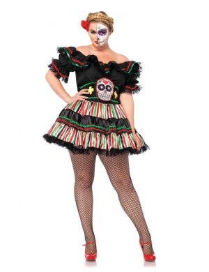 Day of The Dead Sexy Plus Size Sugar Skull Costume