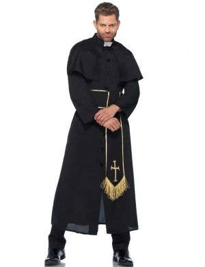 Men's Deluxe Priest Fancy Dress Costume