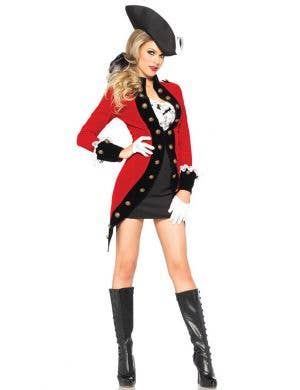 Rebel Red Coat Women's Colonial Fancy Dress Costume