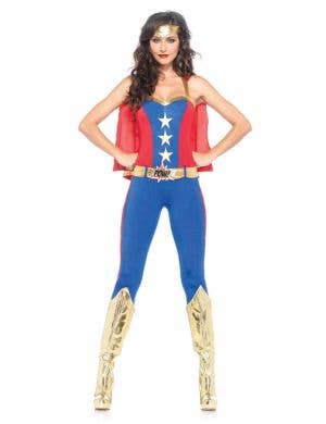Sexy Superhero Women's Comic Book Costume Front Image