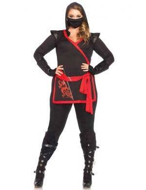 Ninja Assassin Sexy Plus Size Women's Fancy Dress Costume Main Image