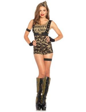 Women's Sexy Army Military Costume Front Image
