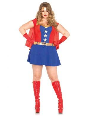 Plus Size Superhero Women's Wonder Woman Costume Main Image