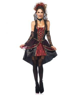 Women's Sexy Vampire Fancy Dress Costume Front View