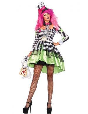 Women's Deliriously Mad Hatter Alice in Wonderland Costume Front View
