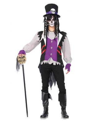 Men's Creepy Voodoo Priest Halloween Costume Main Image